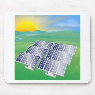 Solar power energy illustration mouse pad