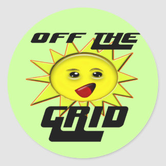 Solar Power Gifts and Promotional Products T-shirt Classic Round Sticker