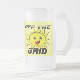 Solar Power Gifts and Promotional Products T-shirt Frosted Glass Beer Mug