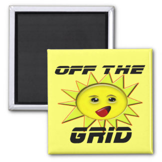 Solar Power Gifts and Promotional Products T-shirt 2 Inch Square Magnet