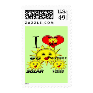 Solar Power Gifts and Promotional Products T-shirt Postage Stamps
