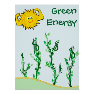 Solar Power Grows Money Poster