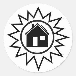 Solar Power Home Sticker