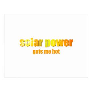 Solar Power Hot! Postcard