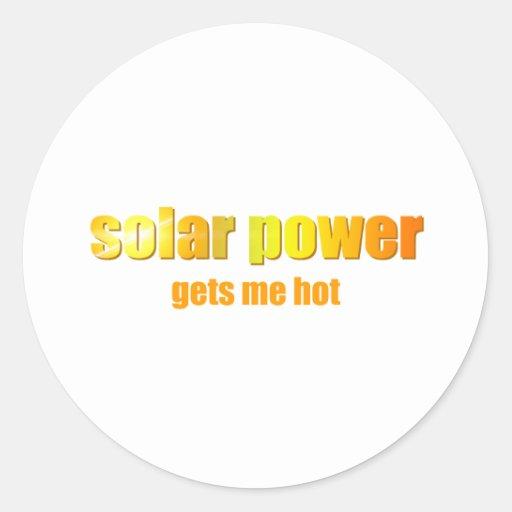 Solar Power Hot! Round Sticker