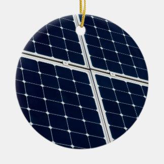 Solar power panel ceramic ornament