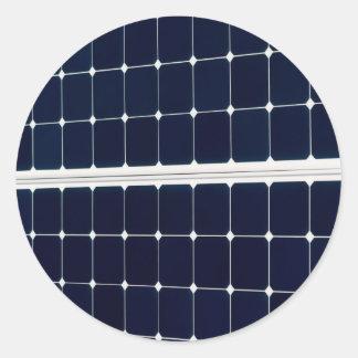 Solar power panel classic round sticker