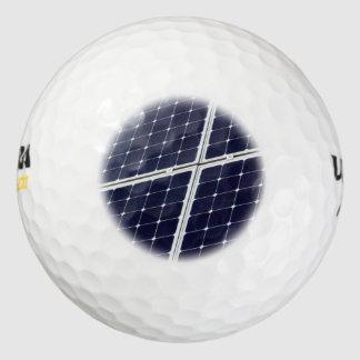 Solar power panel golf balls