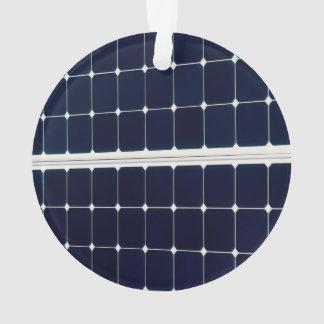 Solar power panel ornament