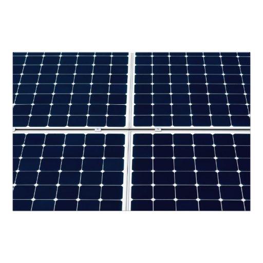 Dashing image throughout printable solar panels