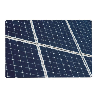 Solar power panel placemat