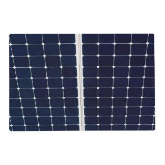 Solar power panel placemat