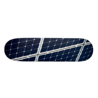 Solar power panel skateboard deck