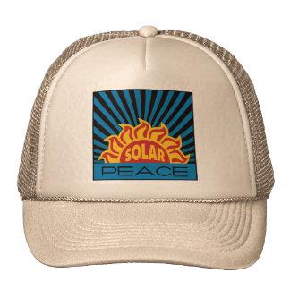 Solar Power Peace Trucker Hat