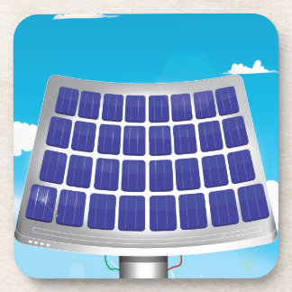 Solar Power Plant Beverage Coaster