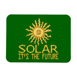 Solar Power Rectangular Photo Magnet