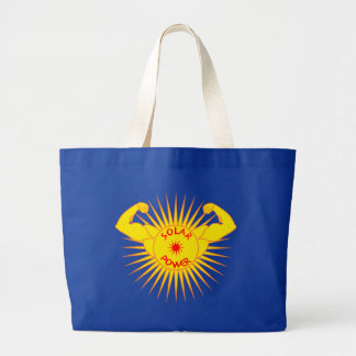 Solar power solarly power large tote bag