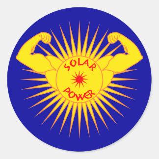 Solar power solarly power sticker