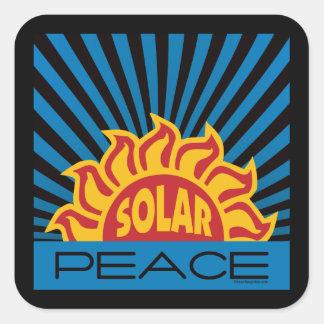 Solar Power Square Sticker