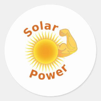 Solar Power Round Sticker