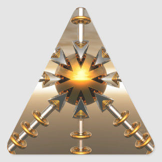 Solar Power Structure Triangle Sticker