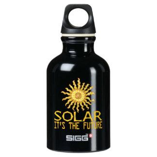 Solar Power Sun Aluminum Water Bottle