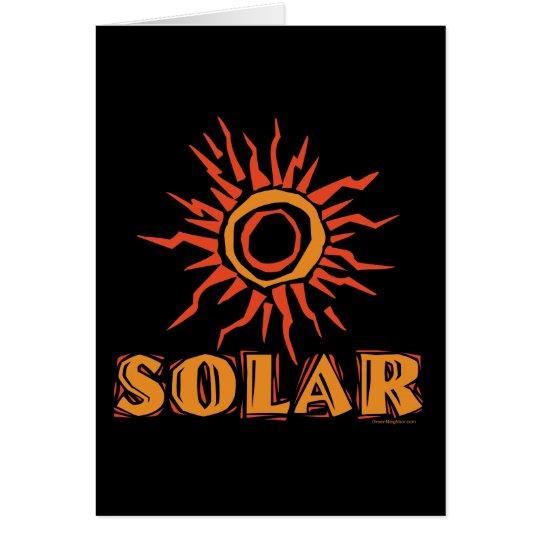 Solar Power Sun Card