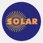 Solar Power Sun Classic Round Sticker