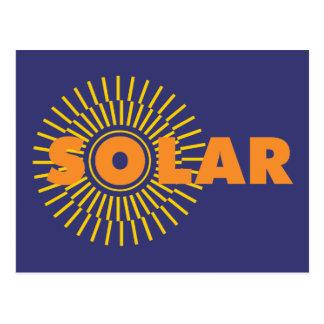 Solar Power Sun Postcard