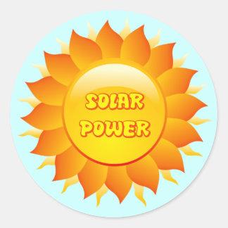 SOLAR POWER SUN STICKER