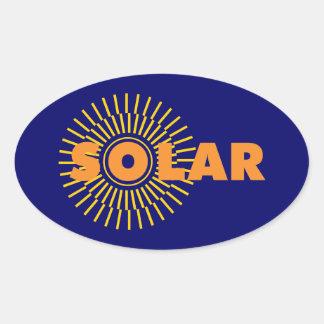 Solar Power Sun Oval Sticker