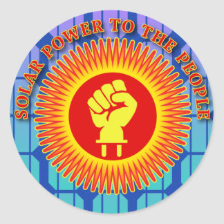 Solar Power to the People Round Stickers