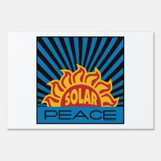 Solar Power Lawn Signs