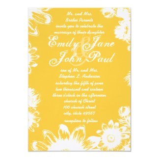 Solar Power Yellow Flower 2012 Wedding Colors Card