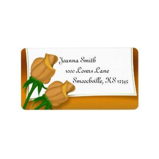 Solar Power Yellow Rose Wedding Label