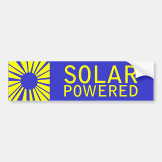 solar powered bumper sticker