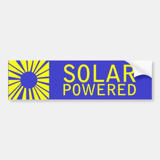 solar powered bumper stickers