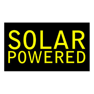 solar powered Double-Sided standard business cards (Pack of 100)