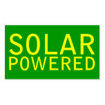 solar powered business card templates