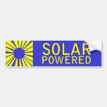 solar powered car bumper sticker