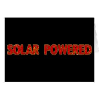 Solar Powered Card