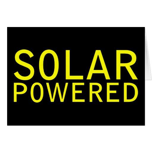 solar powered cards