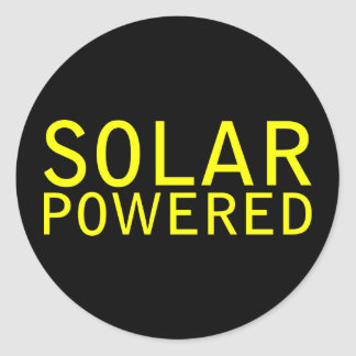 solar powered classic round sticker