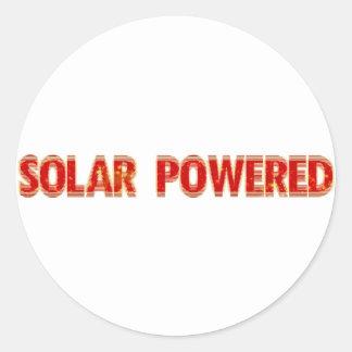 Solar Powered Classic Round Sticker