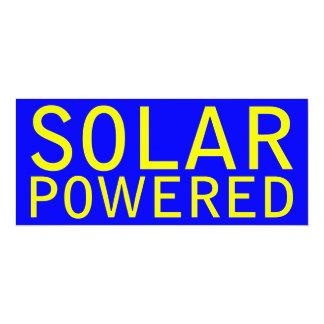 solar powered personalized invitation