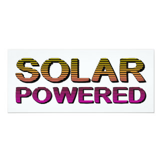 solar powered personalized announcement