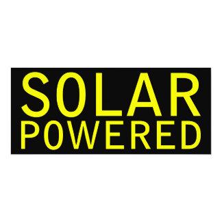 solar powered custom announcement