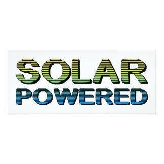 solar powered 4x9.25 paper invitation card