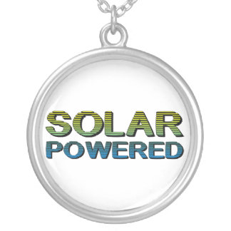 solar powered personalized necklace