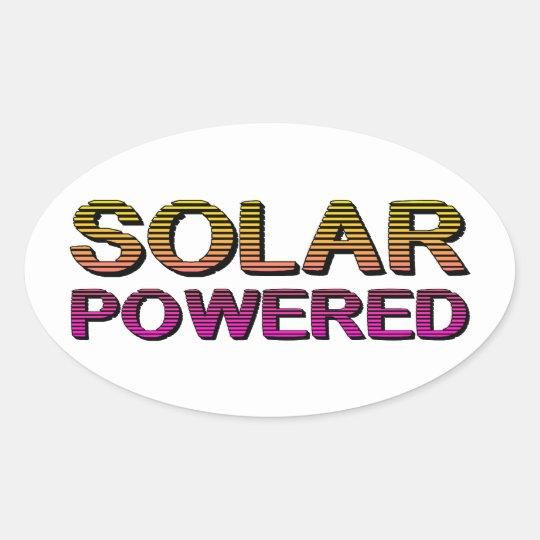 solar powered oval sticker